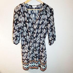 Crown & Ivy Elephant Print Dress